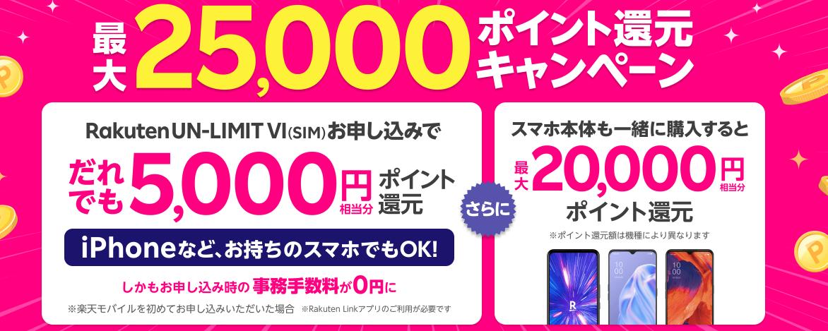 25,000ポイントキャンペーン